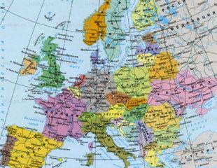географическая карта европы на русском