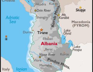 карта курортов албании