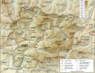 карта андорры с дорогами