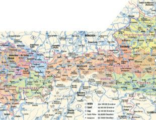 города австрии на карте