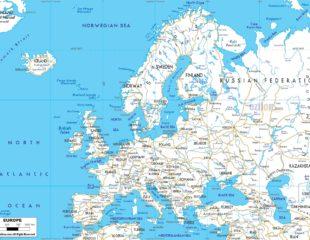 карта автодорог европы