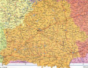 карта беларуси с автодорогами