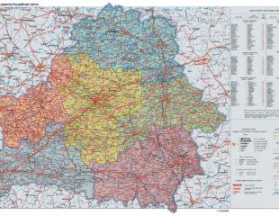 карта беларуси в деталях
