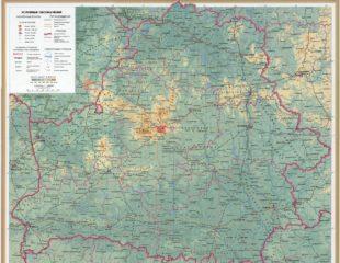 крупная карта беларуси