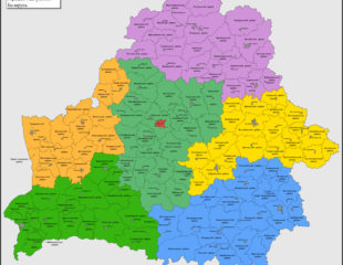 карта районов беларуси