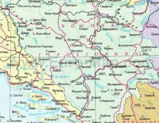 карта боснии и герцеговины на русском