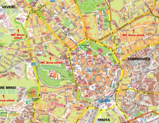карта улиц брно