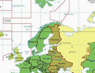 карта часовых поясов в европе