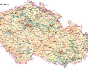 карта чехии подробная