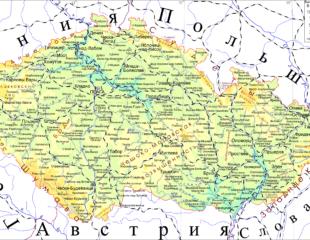 карта чехии русском