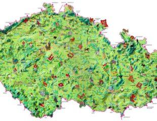 карта чехии с замками