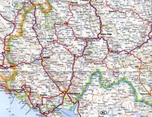карта черногории с дорогами
