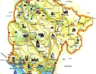 туристическая карта черногории