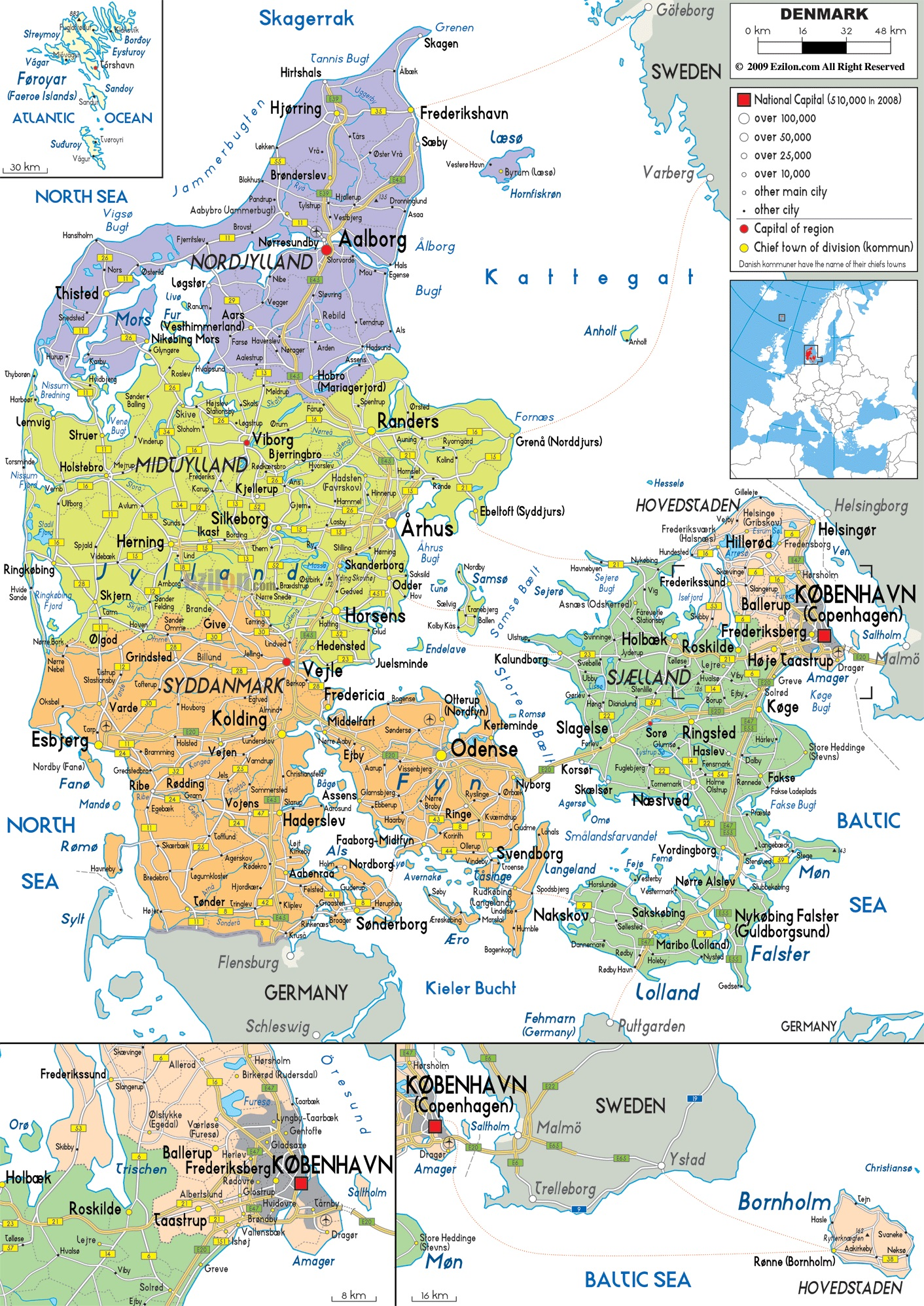 Daniya Na Karte Mira I Evropy Karta Danii Na Russkom Yazyke