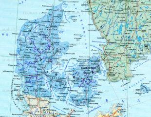 карта дании на русском
