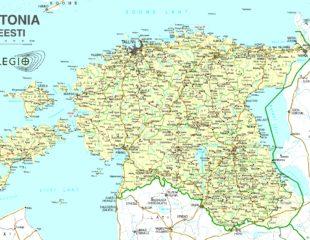 карта городов эстонии