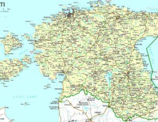 карта эстонии с дорогами
