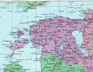 карта эстонии на русском