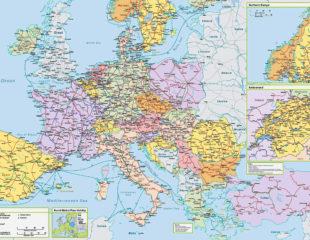 крупная карта европы
