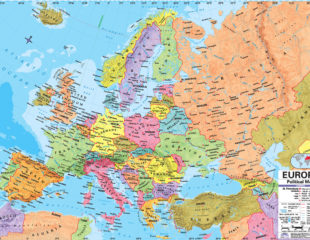 карта европы и европейской части россии