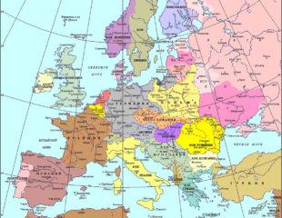 карта европы на русском языке 1939 года