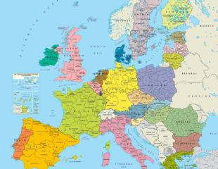 карта государств евросоюза