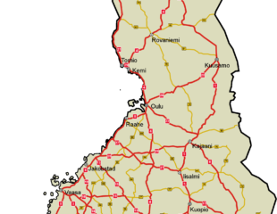 карта финляндии с дорогами
