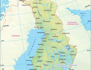 карта финляндии с озерами