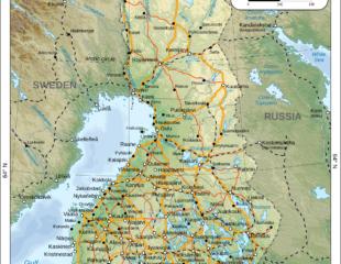 карта финляндии подробная