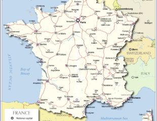 карта франции с аэропортами