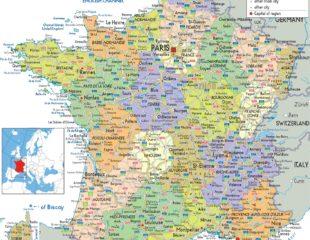 карта городов франции