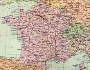 карта франции на русском