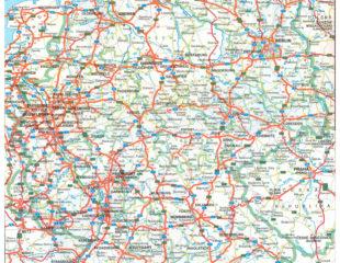 карта германии с дорогами