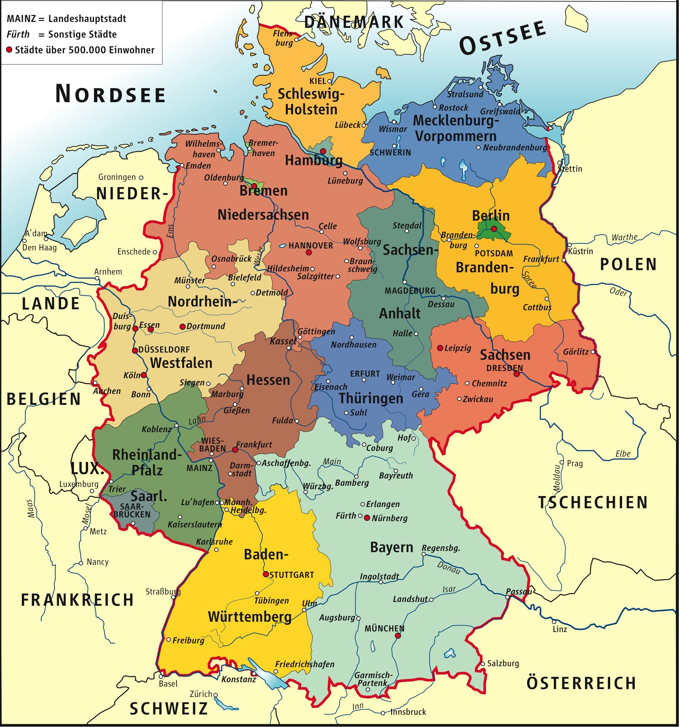 Karta Federalnyh Zemel Germanii