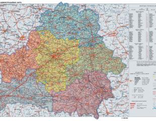 карта поселков беларуси