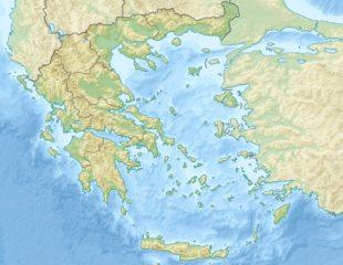 карта греции физическая