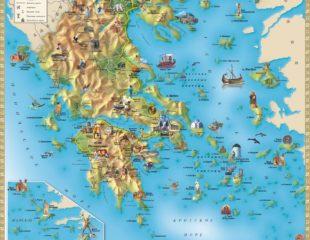 карта греции с курортами