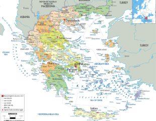 карта хорватии с островами