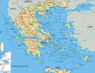 карта греции подробная