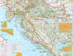 карта хорватии с дорогами