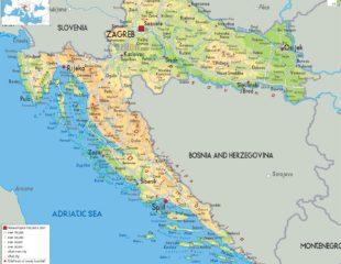 карта городов хорватии