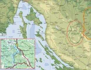 карта плитвицких озер