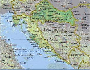 карта хорватии на русском