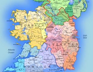 карта ирландии с городами