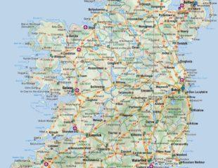 карта ирландии подробная