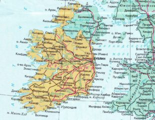 карта ирландии на русском