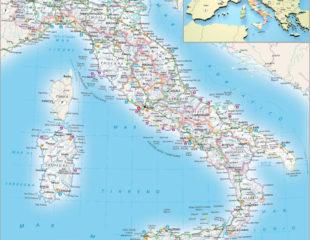карта италии с аэропортами