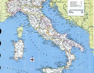 карта италии подробная