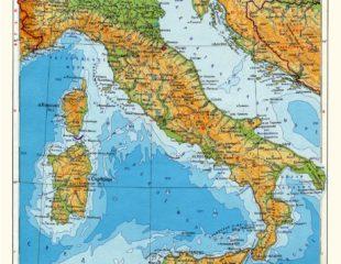 карта италии на русском