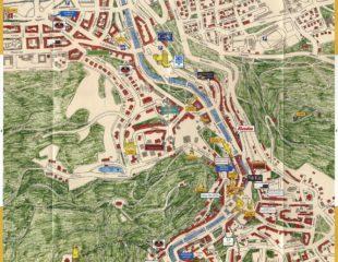 карта карловых вар с достопримечательностями